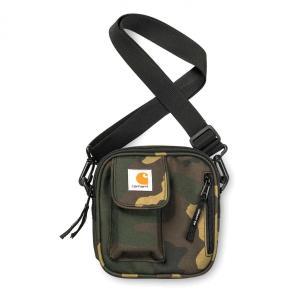 カーハート バッグ メンズ レディース エッセンシャル バッグ スモール カモ 迷彩 ショルダー ポーチ CARHARTT WIP ESSENTIALS BAG SMALL CAMO LAUREL I006285|americanrushstore