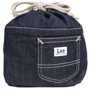 リー ランチバッグ ワンウォッシュ ブルー 巾着 LEE LUNCH BAG ONE WASH BLUE LA0203-100|americanrushstore