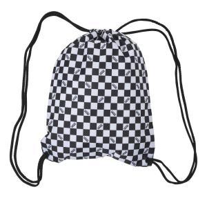 バンズ ナップサック ブラック/ホワイト チェック チェッカー ジムサック バッグ リュック バックパック メンズ レディース VANS LEAGUE BENCH BAG CHECK|americanrushstore