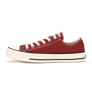 コンバース メンズ シューズ スニーカー 靴 オールスター ウォッシュド キャンバス ローカット レッド CONVERSE ALL STAR WASHED CANVAS OX RED|americanrushstore