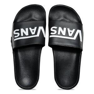 バンズ スライド オン ブラック サンダル シャワーサンダル 黒 メンズ VANS SLIDE-ON (VANS) BLACK VN0004KIIX6|americanrushstore
