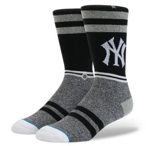STANCE / スタンス SOCKS ソックス MLB COLLECTION YANKS 靴下 BLACK ブラック MLB OFFICIAL オフィシャル NY YANKEES ニューヨーク ヤンキース|americanrushstore