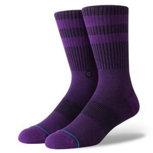 スタンス ソックス クルー パープル ミディアムクッション 靴下 メンズ ラインソックス STANCE SOCKS JOVEN PURPLE CLASSIC MEDIUM CUSHION|americanrushstore