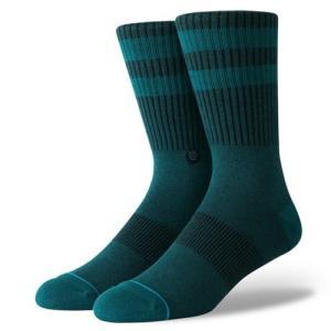 スタンス ソックス クルー グリーン ミディアムクッション 靴下 メンズ ラインソックス STANCE SOCKS JOVEN GREEN CLASSIC MEDIUM CUSHION|americanrushstore