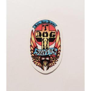 DOGTOWN / ドッグタウン BULLDOG STICKER SMALL ブルドッグ ステッカー スモール スケート MULTI|americanrushstore