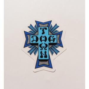 DOGTOWN / ドッグタウン CROSS LOGO STICKER SMALL クロスロゴ ステッカー スモール スケート BLUE ブルー|americanrushstore