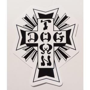 DOGTOWN / ドッグタウン CROSS LOGO STICKER クロスロゴ ステッカー スケート WHITE ホワイト|americanrushstore
