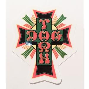 DOGTOWN / ドッグタウン CROSS LOGO STICKER クロスロゴ ステッカー スケート RASTA ラスタ|americanrushstore