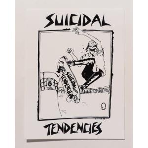 SUICIDAL TENDENCIES / スーサイダルテンデンシーズ LANCE MOUNTAIN SUICIDAL STICKER ランス マウンテン ステッカー スケート WHITE ホワイト|americanrushstore