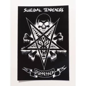 SUICIDAL TENDENCIES / スーサイダルテンデンシーズ SUICIDAL POSSESSED STICKER スーサイダル テンデンシーズ ステッカー スケート BLACK ブラック|americanrushstore