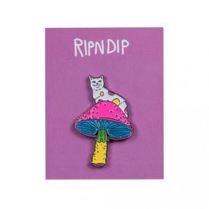 リップンディップ ピンバッジ ピンズ 猫 スケート RIPNDIP PSYCHEDELIC PIN SKATE|americanrushstore