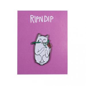 リップンディップ ピンバッジ ピンズ 猫 スケート RIPNDIP ROMANTIC NERMAL PIN SKATE|americanrushstore