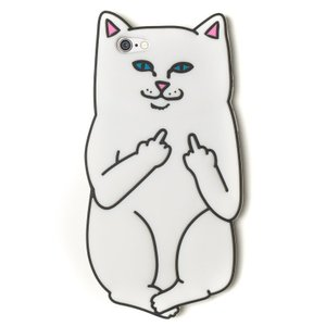 RIPNDIP / リップンディップ LORD NERMAL IPHONE CASE アイフォンケース 6/6S用 猫 WHITE ホワイト SKATE スケート|americanrushstore