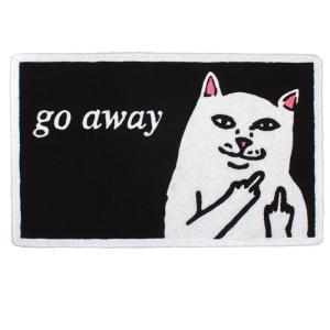 RIPNDIP / リップンディップ GO AWAY RUG ラグ ラグマット 猫 SKATE スケート 送料無料|americanrushstore