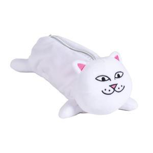 リップンディップ ネームペンシルポーチ ホワイト ぬいぐるみ 人形 トイ 猫 RIPNDIP NERM PENCIL POUCH WHITE|americanrushstore