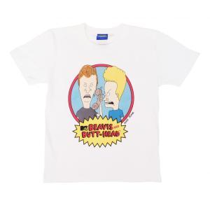 ビーバス・アンド・バットヘッド キッズ 半袖 Tシャツ ホワイト 子供服 ユース ジュニア ボーイズ BEAVIS AND BUTT-HEAD KID'S S/S T WHITE|americanrushstore