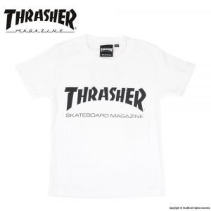 THRASHER / スラッシャー KID'S MAG LOGO S/S T-SHIRT キッズ 半袖 Tシャツ WHITE ホワイト|americanrushstore