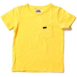リー キッズ ポケット Tシャツ イエロー 子供服 ポケT 無地 LEE KIDS POCKET T-SHIRT YELLOW LK0200-17|americanrushstore
