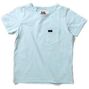 リー キッズ ポケット Tシャツ ブルー 子供服 ポケT 無地 LEE KIDS POCKET T-SHIRT LK0200-42|americanrushstore