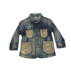 Lee / リー KIDS キッズ COVERALL JACKET カバーオール ジャケット 子供服 146 INDIGO インディゴ|americanrushstore