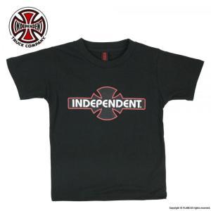 INDEPENDENT / インデペンデント KID'S キッズ ORIGINAL BAR AND CROSS LOGO S/S TEE 半袖 Tシャツ BLACK ブラック|americanrushstore