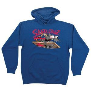 サンタクルーズ キッズ ユース ラットスラッシャー フード スウェット ブルー SANTACRUZ KID'S YOUTH RAT SLASHER SWEAT PARKA BLUE|americanrushstore