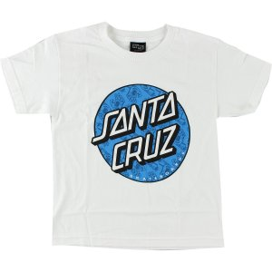 サンタクルーズ スケートボード キッズ ユース ハンド フィル ドット 半袖 Tシャツ ホワイト SANTACRUZ HAND FILL DOT YOUTH S/S TEE WHITE|americanrushstore