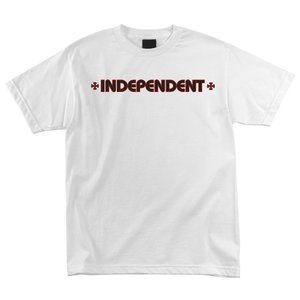 インデペンデント ユース 半袖 Tシャツ ホワイト 子供服 キッズ トラック 白 子供サイズ INDEPENDENT TRUCK CO. YOUTH BAR CROSS S/S T WHITE|americanrushstore