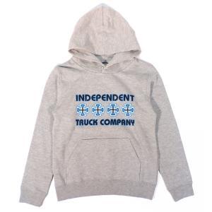 インデペンデント トラック ユース パーカー ヘザーグレー キッズ ボーイズ 子供服 フレーク INDEPENDENT KID'S L/S HOODED H.GREY FLAKE|americanrushstore