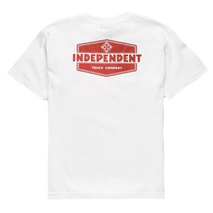 インデペンデント ユース 半袖 Tシャツ ホワイト 子供服 キッズ トラック 白 子供サイズ INDEPENDENT TRUCK CO. YOUTH INDUSTRY REGULAR S/S T WHITE|americanrushstore