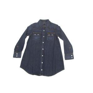 Lee / リー KIDS キッズ ガールズ ワンピース ウエスタンシャツ 子供服 126 濃色 ブルー americanrushstore