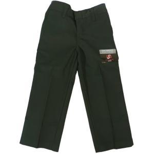 ディッキーズ ボーイズ ワークパンツ グリーンハンター キッズ ユース 子供服 US企画 DICKIES BOY'S FLAT FRONT PANTS CLASSIC FIT GREEN HUNTER|americanrushstore