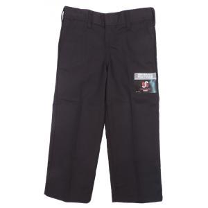 ディッキーズ ボーイズ ワークパンツ ブラック キッズ ユース 子供服 US企画 DICKIES BOY'S FLAT FRONT PANTS CLASSIC FIT STRAIGHT LEG BLACK americanrushstore