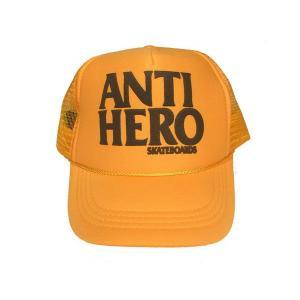 ANTIHERO / アンチヒーロー FLAKE KIDS MESH CAP YELLOW メッシュキャップ イエロー|americanrushstore