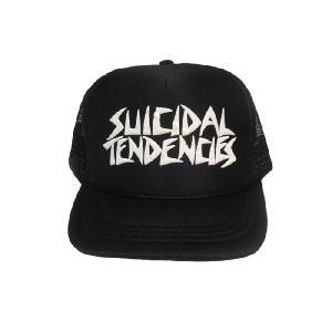 SUICIDAL TENDENCIES / スーサイダルテンデンシーズ FLAKE KIDS LOGO MESH CAP メッシュキャップ ブラック|americanrushstore