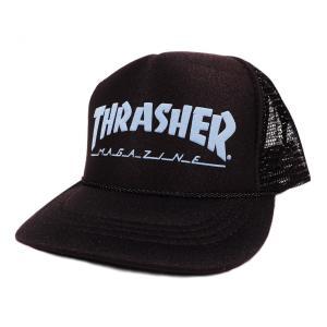 THRASHER / スラッシャー KID'S MESH CAP メッシュキャップ BLACK / BLUE|americanrushstore