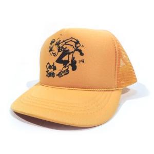 CIRCLE JERKS / サークルジャークス FLAKE KIDS MESH CAP メッシュキャップ キッズ 子供服 YELLOW|americanrushstore