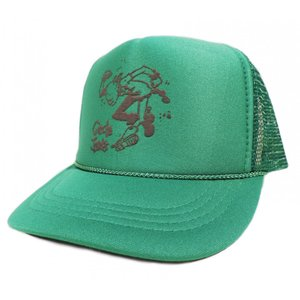 CIRCLE JERKS / サークルジャークス FLAKE KIDS MESH CAP メッシュキャップ キッズ 子供服 GREEN|americanrushstore