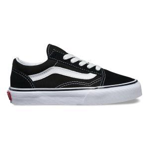 バンズ ボーイズ オールドスクール ブラック 黒 キッズ 子供靴 スニーカー ヴァンズ  VANS KID'S OLD SKOOL BLACK/TRUE WHITE US企画|americanrushstore