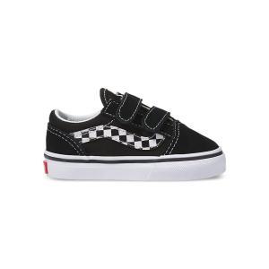 バンズ キッズ トドラー オールドスクール V ブラック/ホワイト 子供 靴 スニーカー VANS KID'S TODDLERS OLD SKOOL V (SIDESTRIPE V)BLACK/TRUE WHITE|americanrushstore