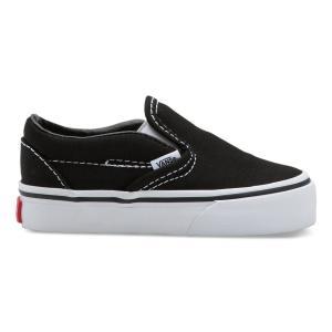 VANS / バンズ KID'S TODDLER CLASSIC SLIP-ON キッズ 子供服 スニーカー スリッポン BLACK ブラック VN000EX8BLK|americanrushstore