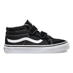 VANS / バンズ KIDS SK8-MID REISSUE V スケートミッド キッズ 子供服 スニーカー BLACK / TRUE WHITE|americanrushstore