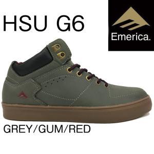 売り尽くし!30%OFF!!2016 EMERICA HSU G6 GREY/GUM/RED スケー...