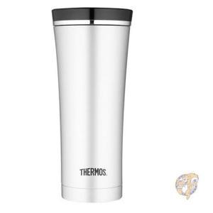 Thermos サーモス ステンレスカップ 真空断熱タンブラーカップ 蓋つき ブラック 450ml ...