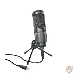 オーディオテクニカ Audio Technica AT2020USB プラス スタジオ コンデンサー...