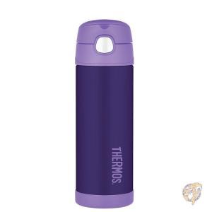 Thermos サーモス 真空断熱 ステンレスボトル ストロー ボトル 水筒 パープル 紫 マグボト...