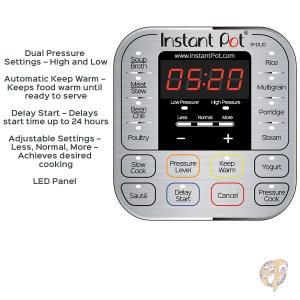 全自動圧力調理器 インスタントポット6リットル Instant Pot IP-DUO60 7-in-1プログラムモード搭載 多機能調理器 米国製品|americapro|03
