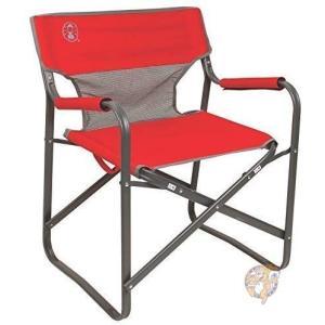コールマン Coleman 2000019421 折り畳みチェア スチールデッキ レッド 折り畳み椅...