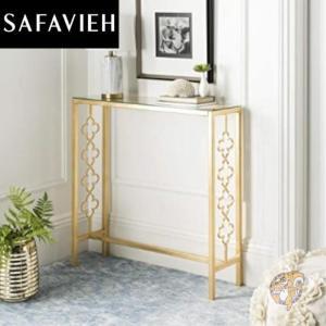 【Safavieh】コンソールテーブル アクセント ガラス スリム Gold americapro