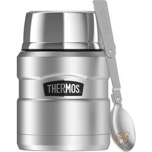 Thermos サーモス  フードジャー ステンレスランチボックス ステンレス弁当箱 保温性抜群 おしゃれ シルバー 0.45L|americapro